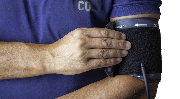 Blutdruck, Mann, Arm, Kompresse