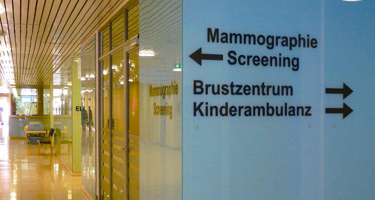 Wegweiser Brustzentrum im Krankenhaus