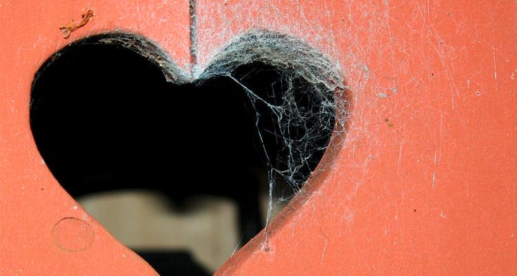 Herzsilhouette in der Tür eines Stillen Örtchens - bei Enddarmerkrankungen ist ein häufiger Toilettengang möglich