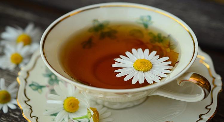 Teetasse, Blüten