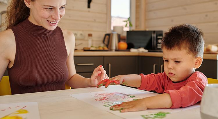 Kind-Mutter-Malen
