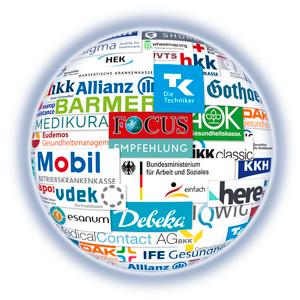 Logos der Kooperationspartner der Stiftung Gesundheit.