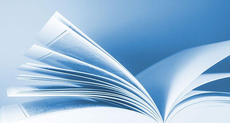 Nahaufnahme eines Buches.