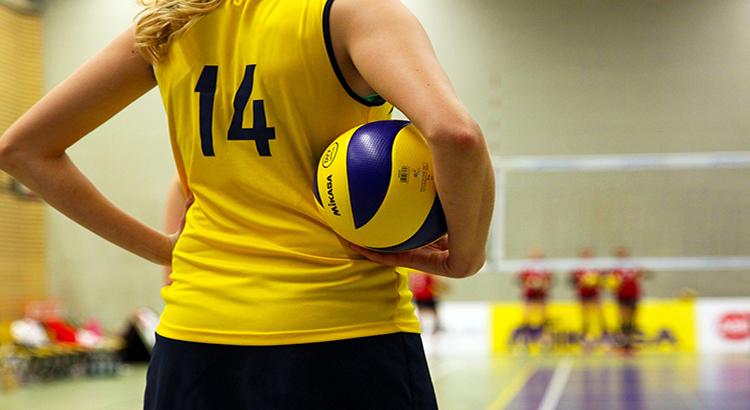 Frau, Volleyball, Sport