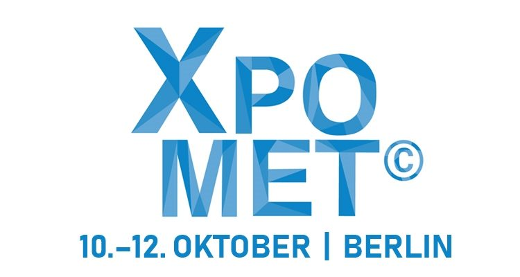 Logo XPOMET 10. bis 12. Oktober in Berlin.