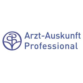 Logo der Arzt-Auskunft Professional.