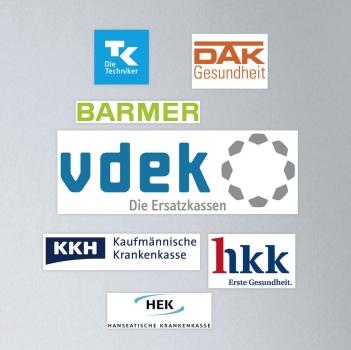 Collage der Logos der Mitglieder des vdek.